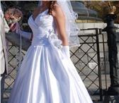 Изображение в Одежда и обувь Свадебные платья белое, атласное, элегантное,  ничего лишнего в Краснодаре 6000