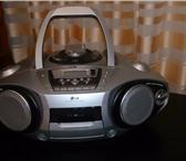 Фото в Электроника и техника Аудиотехника Магнитола LG (CD,МР3,радио,кассета) + пульт. в Москве 2000