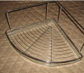 Изображение в Мебель и интерьер Мебель для ванной угловая полочка для ванной, хромированная в Санкт-Петербурге 500