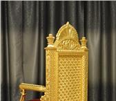 Фото в Мебель и интерьер Мягкая мебель Трон покрытый сусальным золотом,авторская,ручная в Самаре 120000