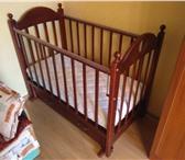 """Изображение в Для детей Детская мебель Удобная детская кроватка, цвет """"темная вишня"""", в Тамбове 5900"""